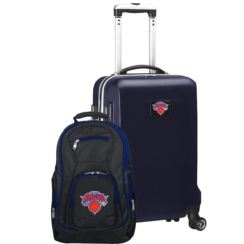 New York Knicks Deluxe 2-Piece Backpack and Carry-On Set - Navy