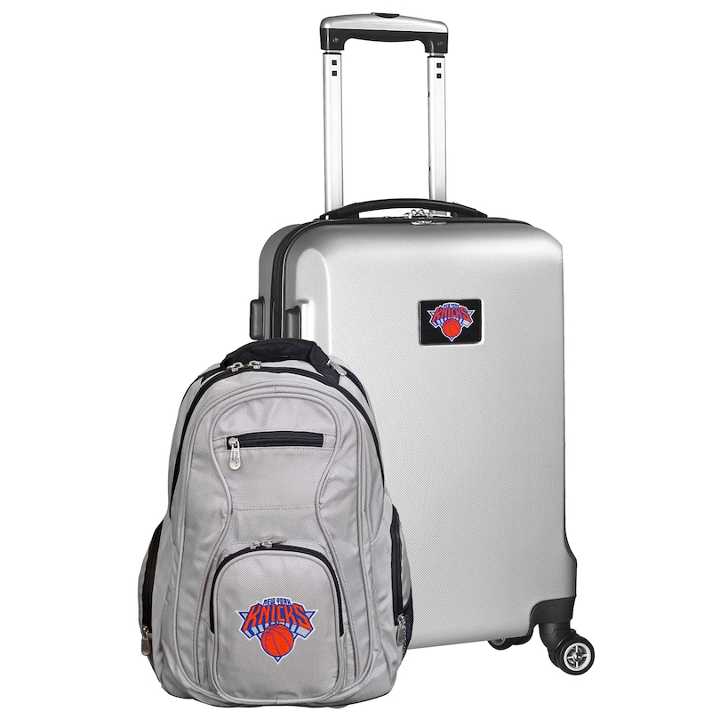 New York Knicks Deluxe 2-Piece Backpack and Carry-On Set - Silver