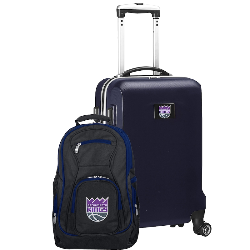 Sacramento Kings Deluxe 2-Piece Backpack and Carry-On Set - Navy