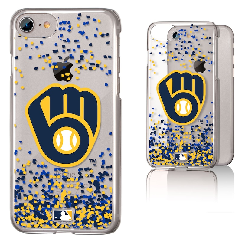 Milwaukee Brewers Galaxy iPhone 6/6S/7/8 Confetti Design Clear Case