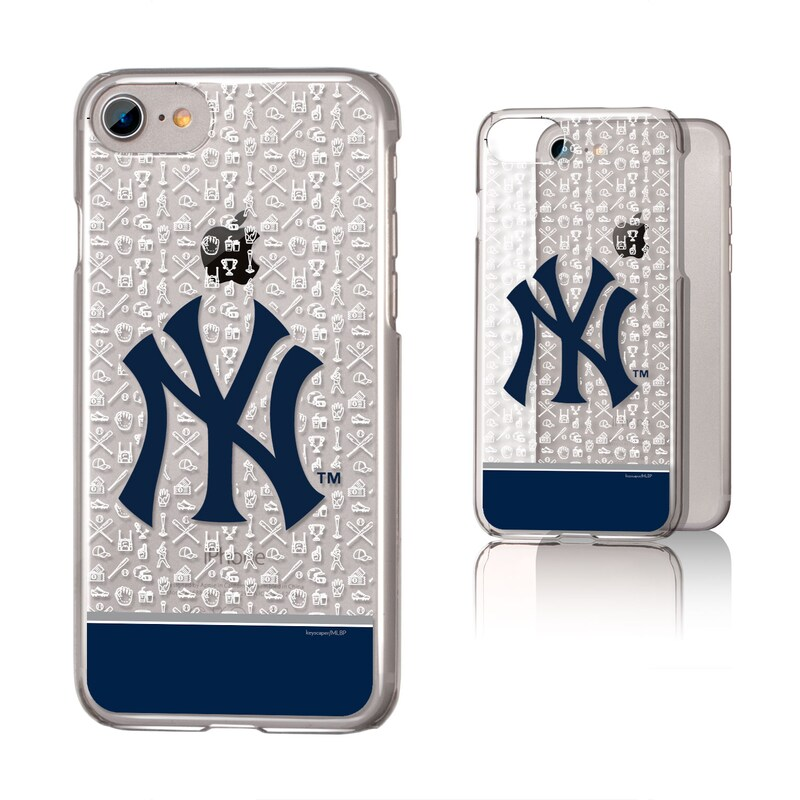 New York Yankees iPhone 6/6s/7/8 Pattern Stripe Clear Case
