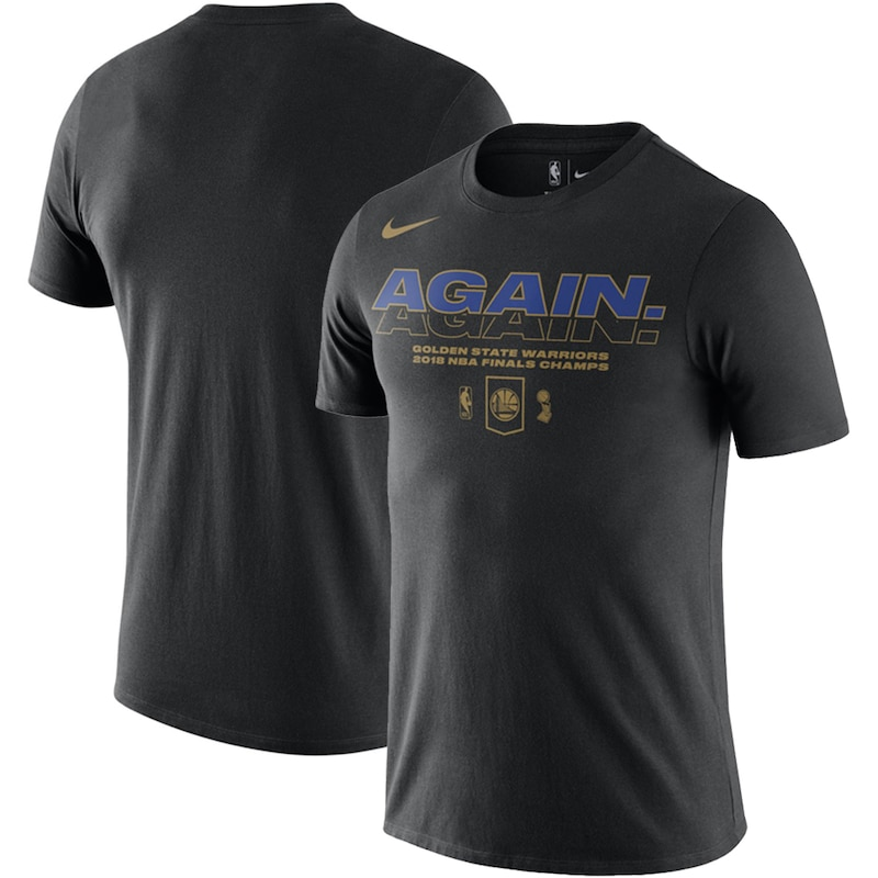 Golden State Warriors Nike 2018 NBA Finals Champions Celebration Mantra DFCT T-Shirt - Black