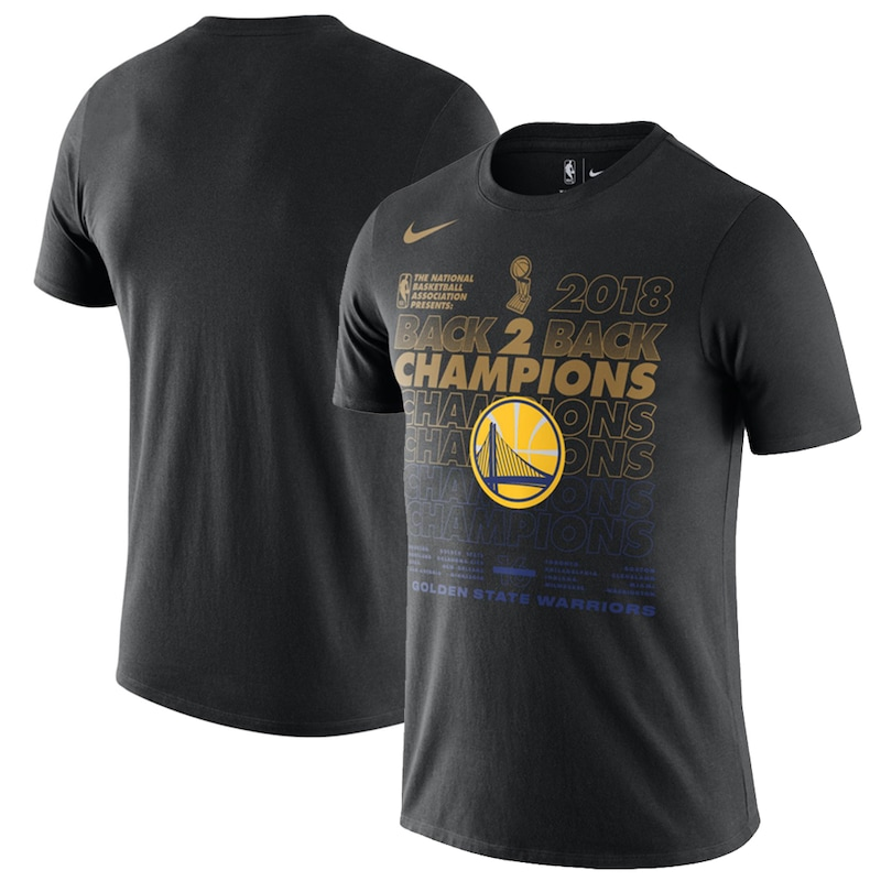 Golden State Warriors Nike 2018 NBA Finals Champions Locker Room T-Shirt - Black
