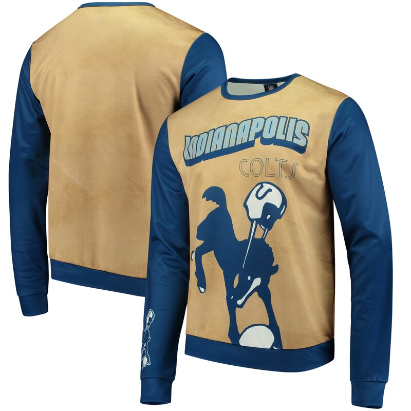 Indianapolis Colts Retro Sublimated Sweater - Gold