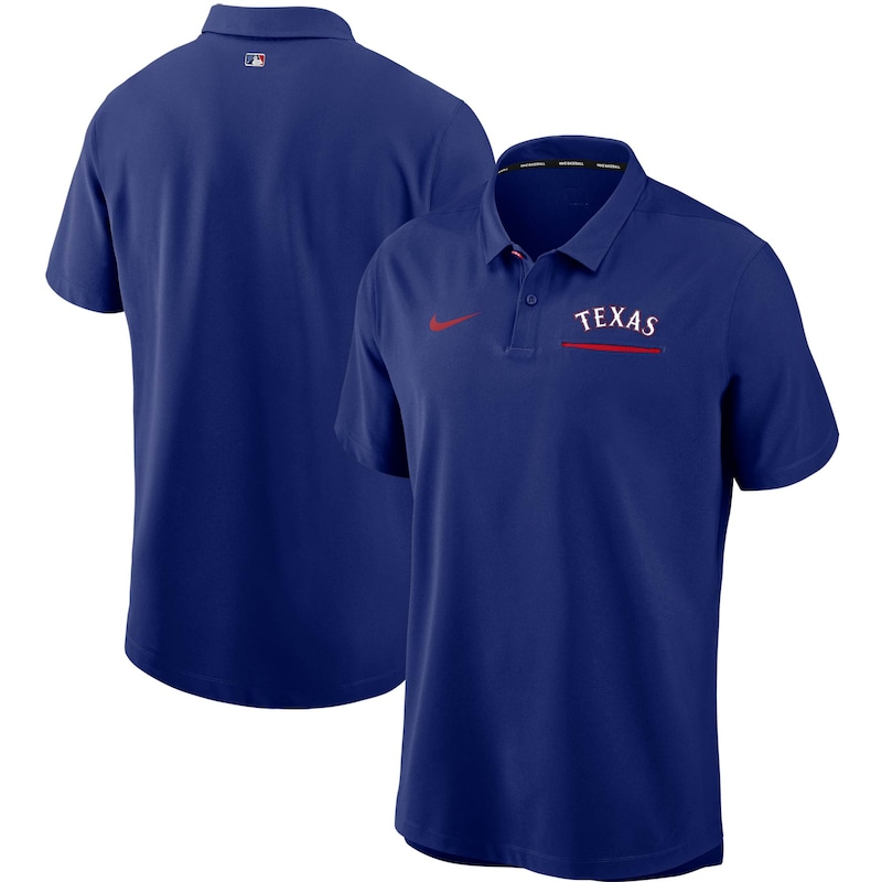Texas Rangers Nike Authentic Collection Performance Polo - Royal