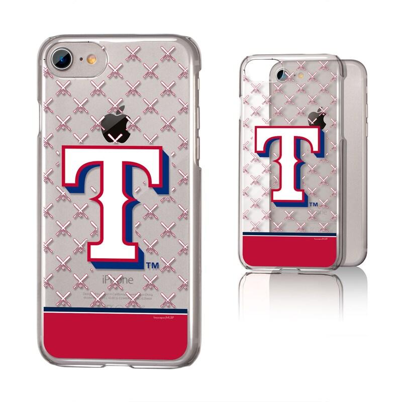Texas Rangers iPhone 6/6s/7/8 Logo Stripe Clear Case