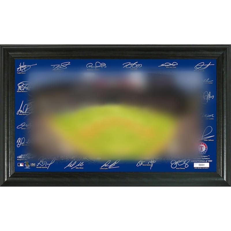 Texas Rangers Highland Mint 12'' x 20'' Signature Field Limited Editon Framed Photo Mint