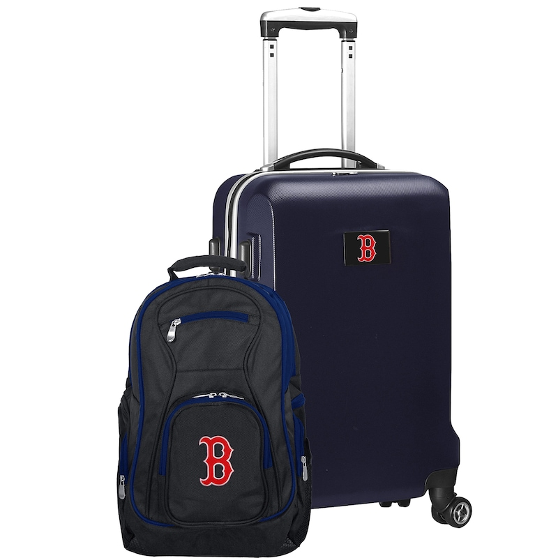 Boston Red Sox Deluxe 2-Piece Backpack and Carry-On Set - Navy