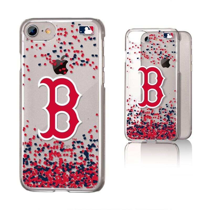 Boston Red Sox Galaxy iPhone 6/6S/7/8 Confetti Design Clear Case