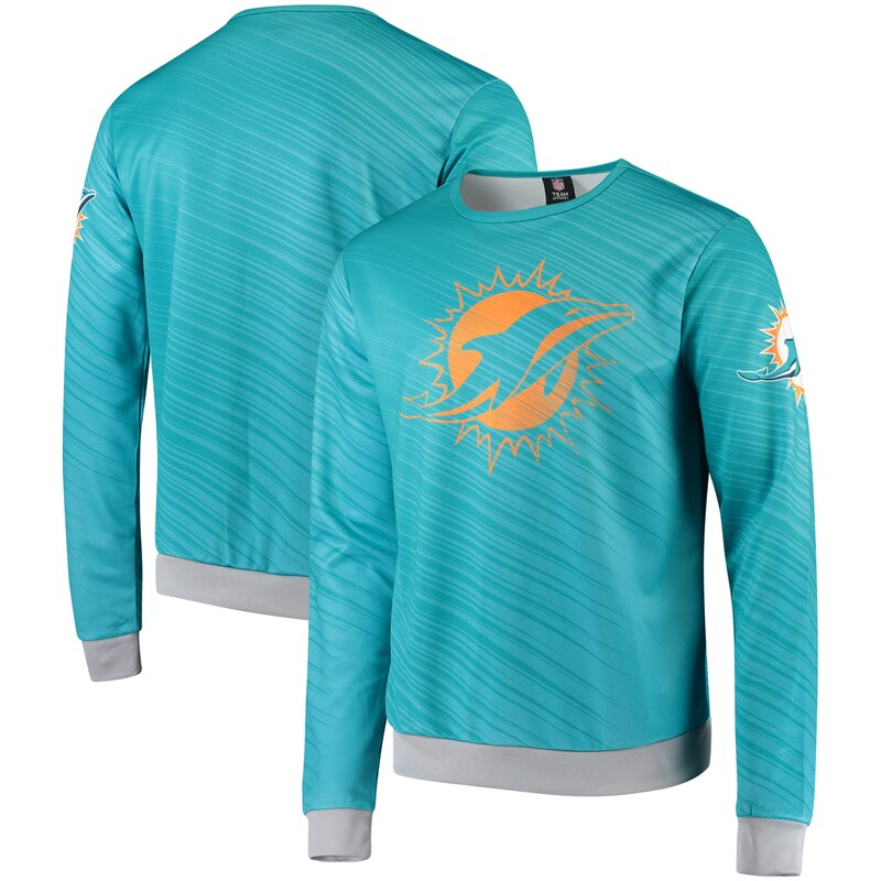 Miami Dolphins Static Rain Pullover Sweatshirt - Teal