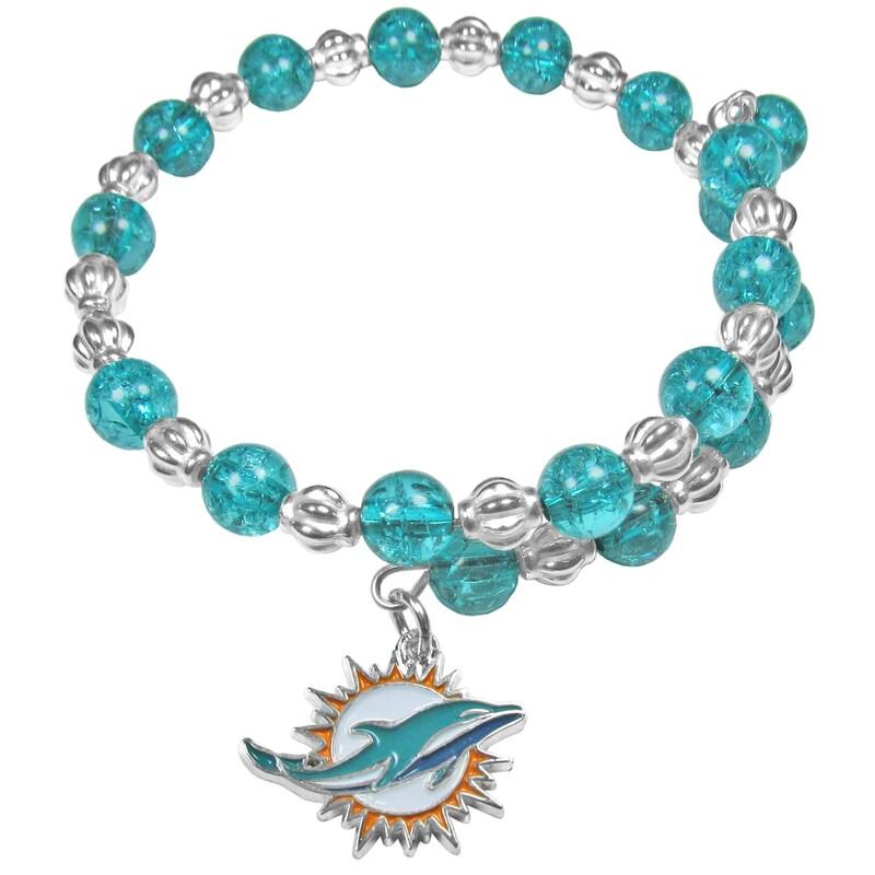 Miami Dolphins Women's 400 Degrees Beaded Bracelet