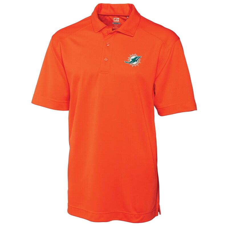 Miami Dolphins Cutter & Buck Big & Tall DryTec Genre Polo - Orange