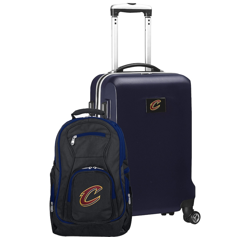 Cleveland Cavaliers Deluxe 2-Piece Backpack and Carry-On Set - Navy