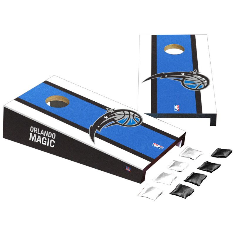 Orlando Magic Stripe Design Desktop Cornhole Game Set