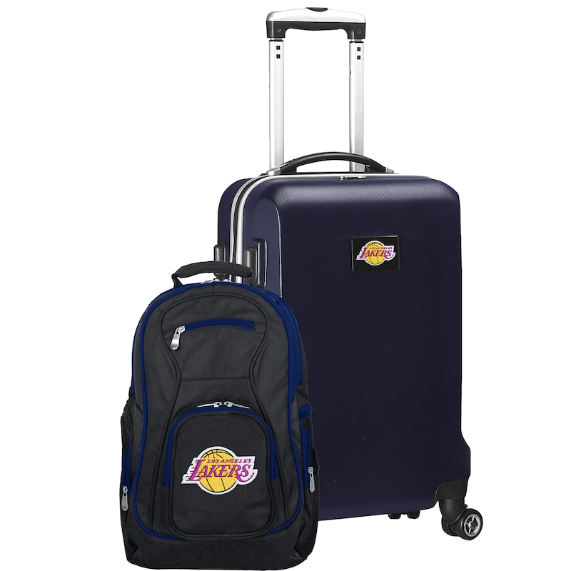Los Angeles Lakers Deluxe 2-Piece Backpack and Carry-On Set - Navy