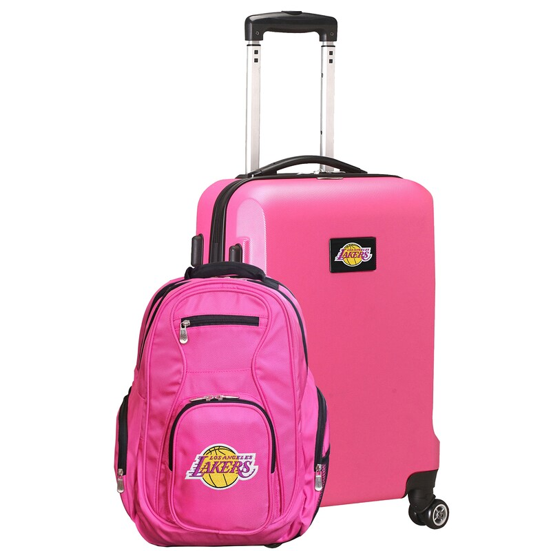 Los Angeles Lakers Deluxe 2-Piece Backpack and Carry-On Set - Pink