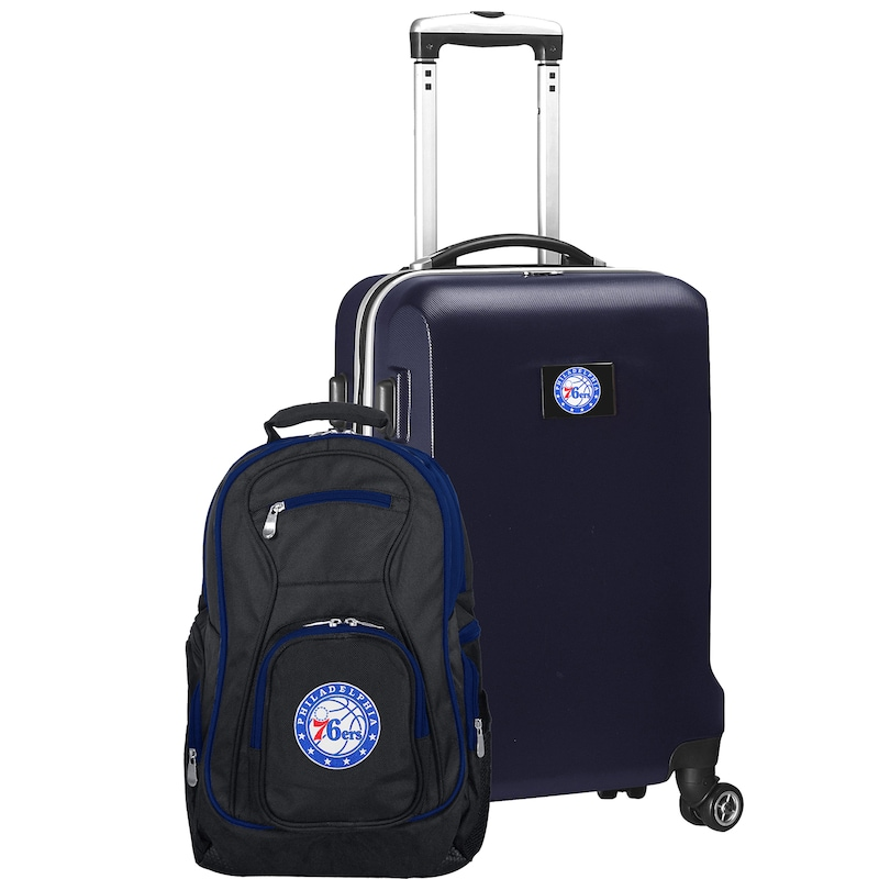 Philadelphia 76ers Deluxe 2-Piece Backpack and Carry-On Set - Navy