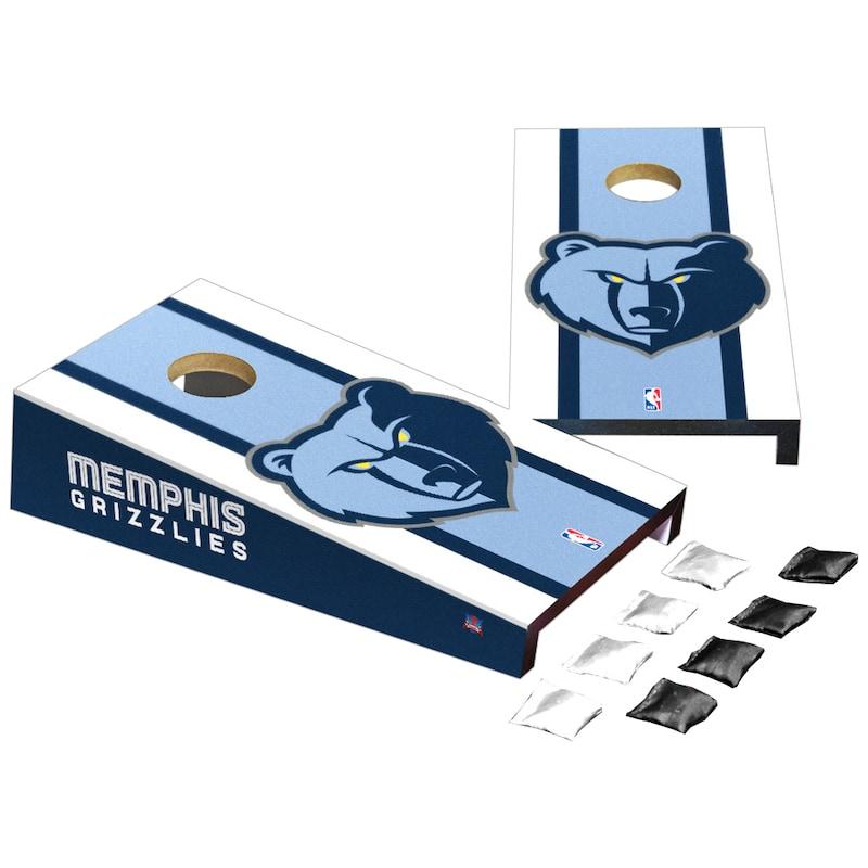 Memphis Grizzlies Stripe Design Desktop Cornhole Game Set