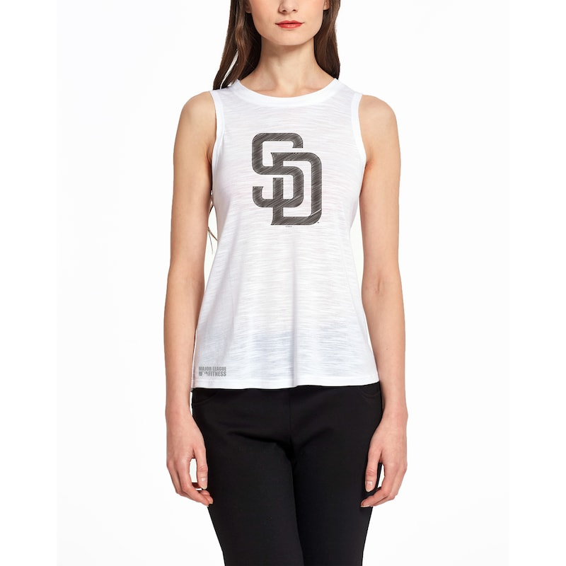 San Diego Padres Concepts Sport Women's Infuse Knit Tank Top - White