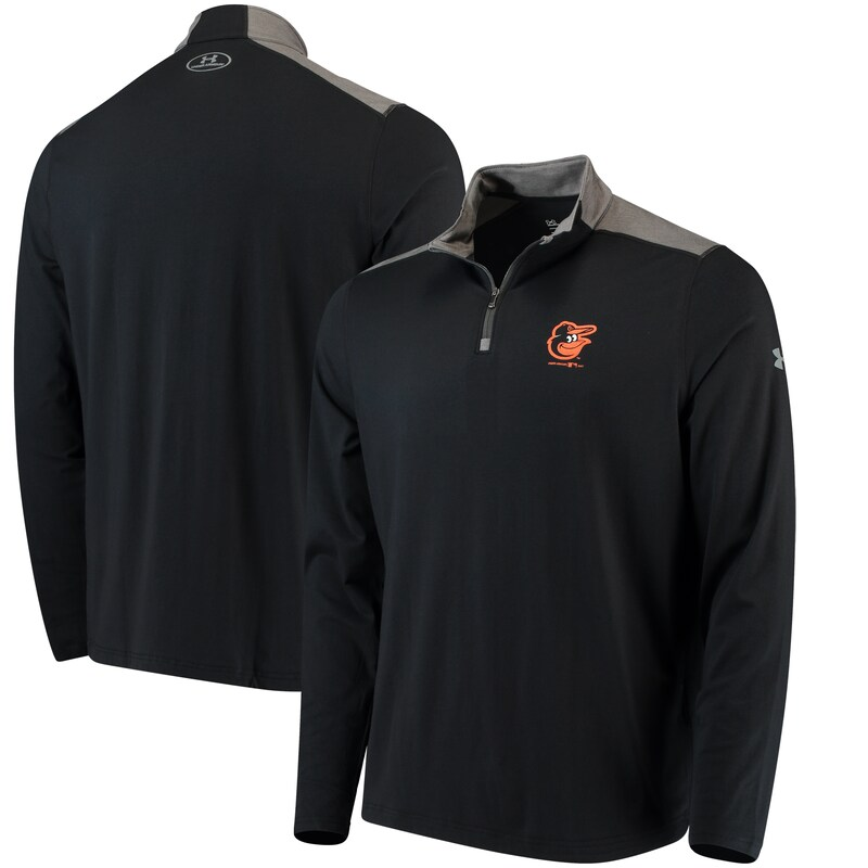 Baltimore Orioles Under Armour Charged Cotton Quarter-Zip Pullover Jacket - Black