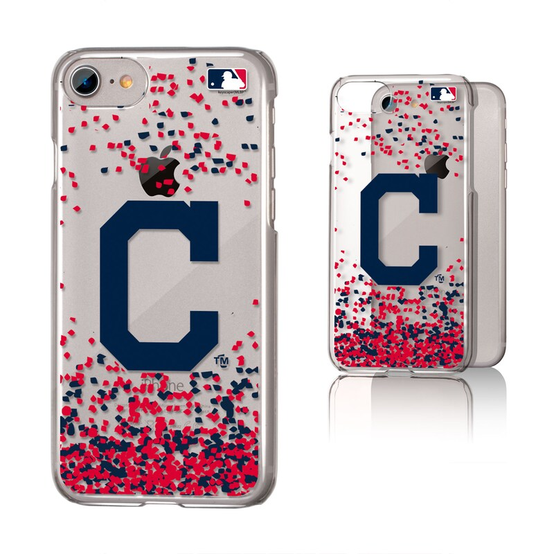 Cleveland Indians Galaxy iPhone 6/6S/7/8 Confetti Design Clear Case