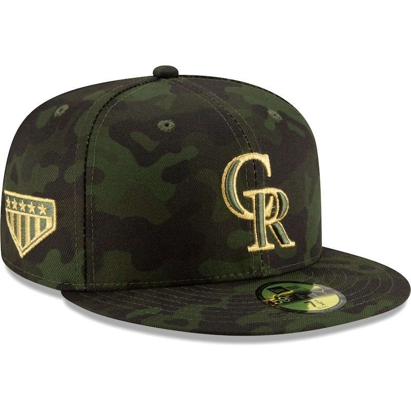 Colorado Rockies New Era MLB Armed Forces Day On-Field 59FIFTY Fitted Hat - Camo