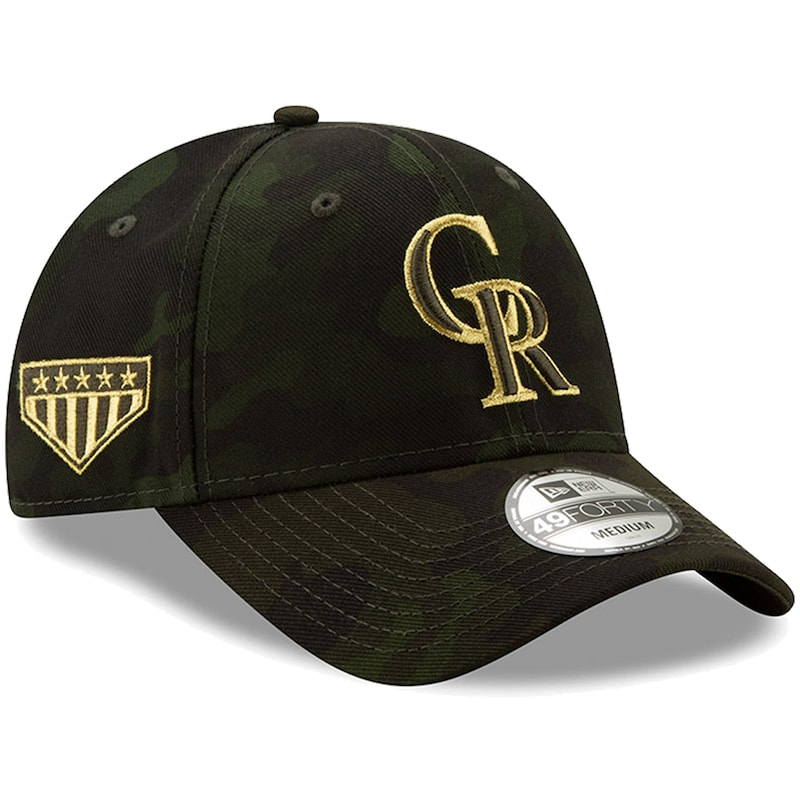 Colorado Rockies New Era MLB Armed Forces Day 49FORTY Fitted Hat - Camo