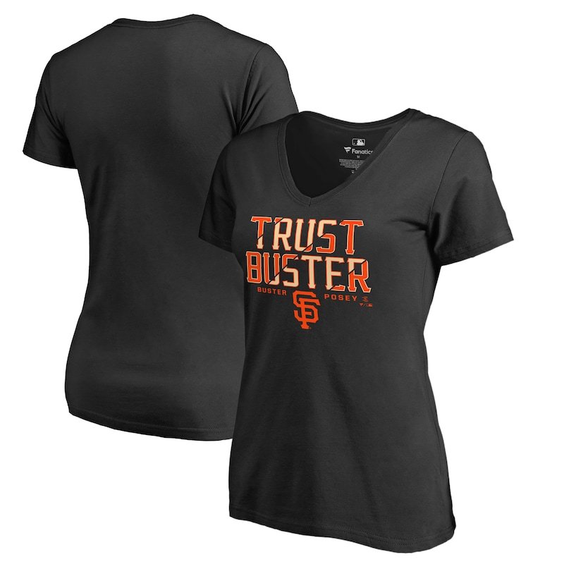 Buster Posey San Francisco Giants Fanatics Branded Women's Player Hometown Collection V-Neck T-Shirt - Black