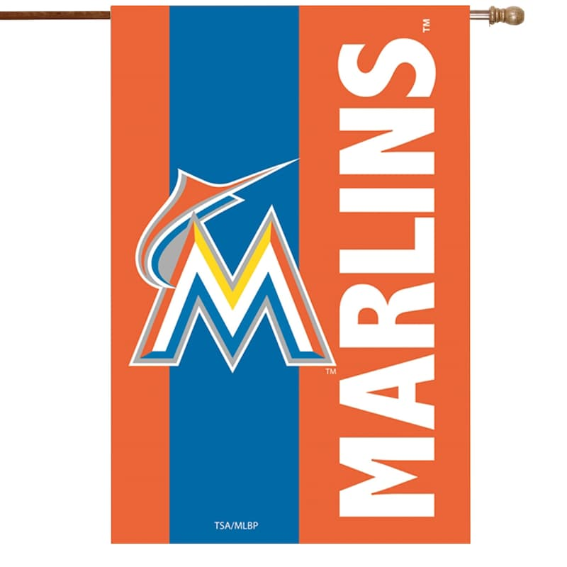 Miami Marlins 28'' x 44'' Embellish House Flag