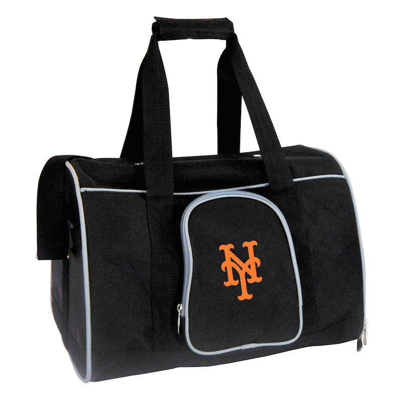 "New York Mets Small 16"" Pet Carrier - Black"