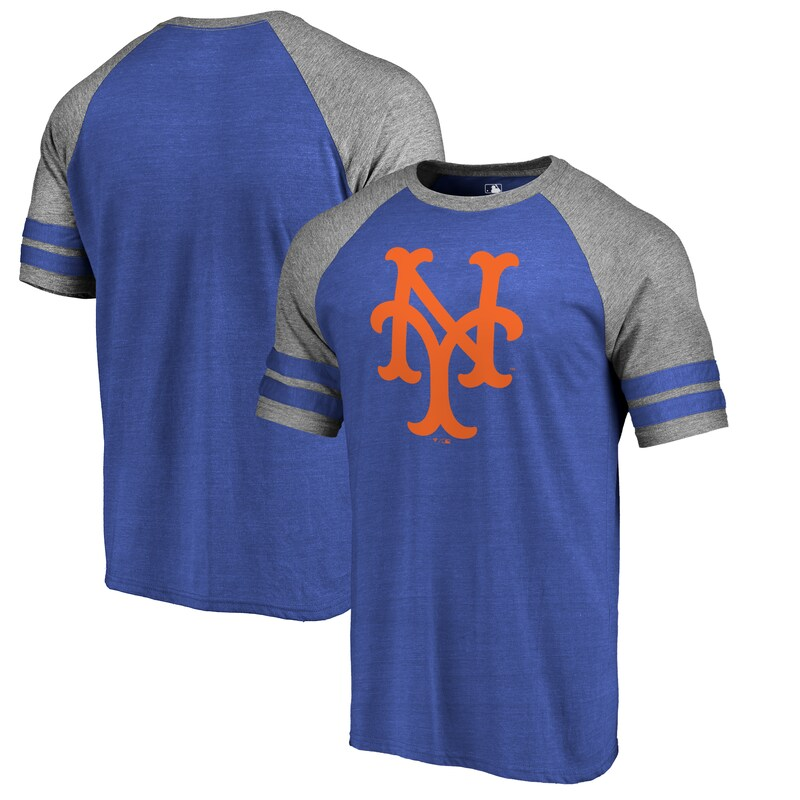 New York Mets Fanatics Branded Huntington Cooperstown Collection Tri-Blend T-Shirt - Royal
