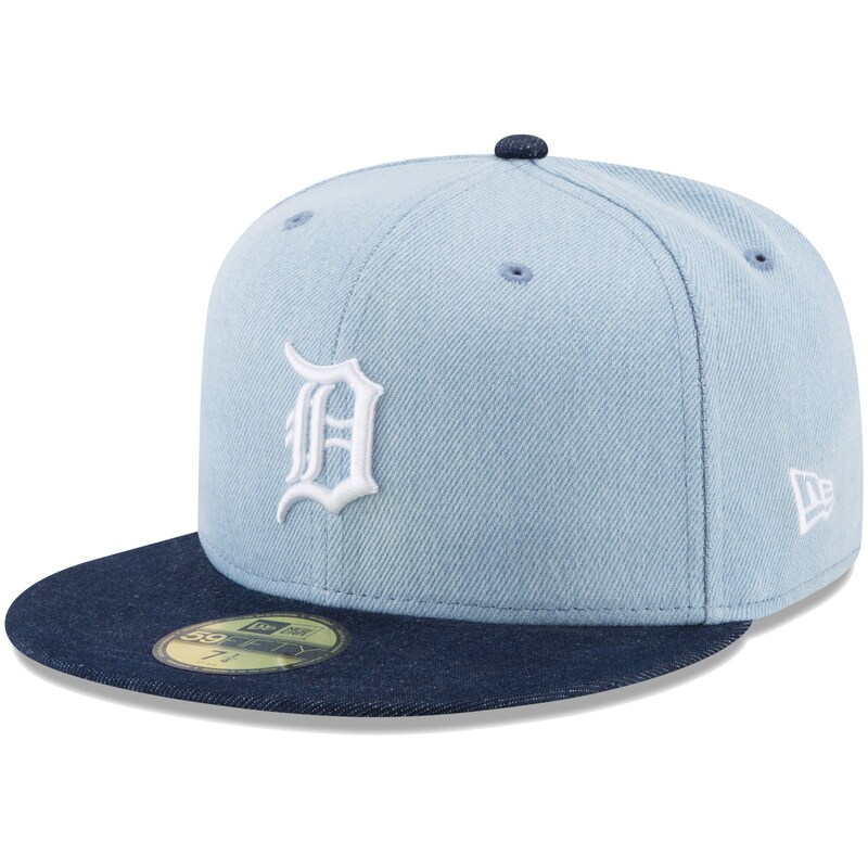 Detroit Tigers New Era Levi's Two-Tone 59FIFTY Fitted Hat - Denim/Navy