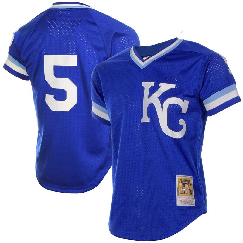George Brett Kansas City Royals Mitchell & Ness Batting Practice Jersey - Royal Blue