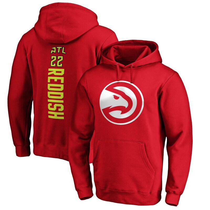 Cam Reddish Atlanta Hawks Fanatics Branded Playmaker Name & Number Pullover Hoodie - Red