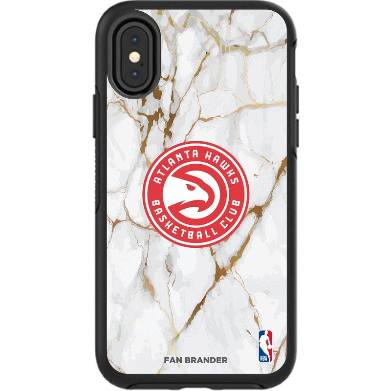 Atlanta Hawks iPhone Symmetry Marble Case - Black