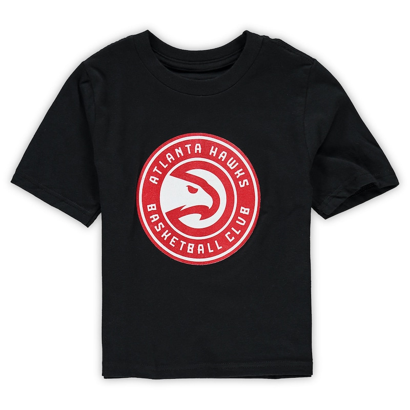 Atlanta Hawks Preschool Primary Team Logo T-Shirt - Black