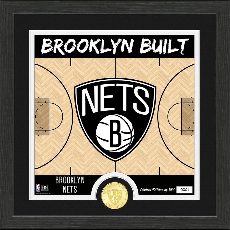 Brooklyn Nets Highland Mint Battle Cry Bronze Coin Photo Mint