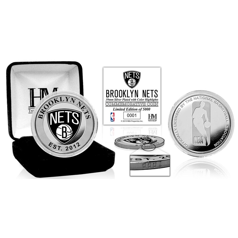 Brooklyn Nets Highland Mint Color Silver Coin