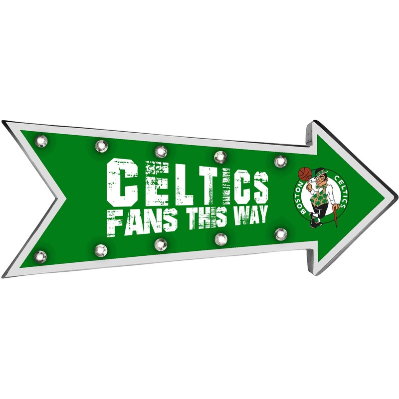 Boston Celtics Arrow Marquee Sign