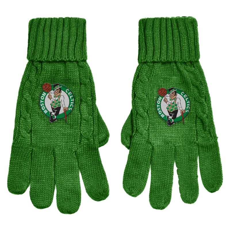 Boston Celtics Women's Cable Knit Gloves - Kelly Green