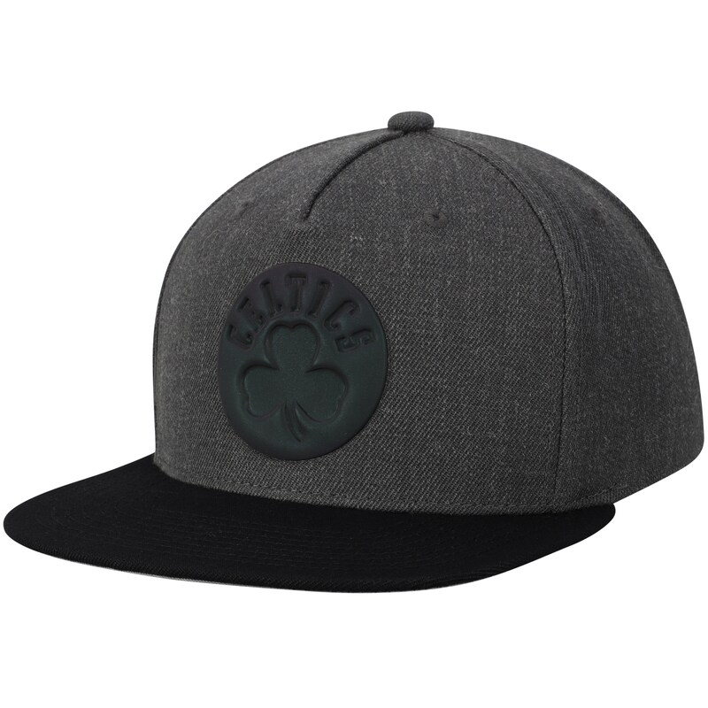 Boston Celtics Mitchell & Ness Matte Tonal Snapback Adjustable Hat - Charcoal