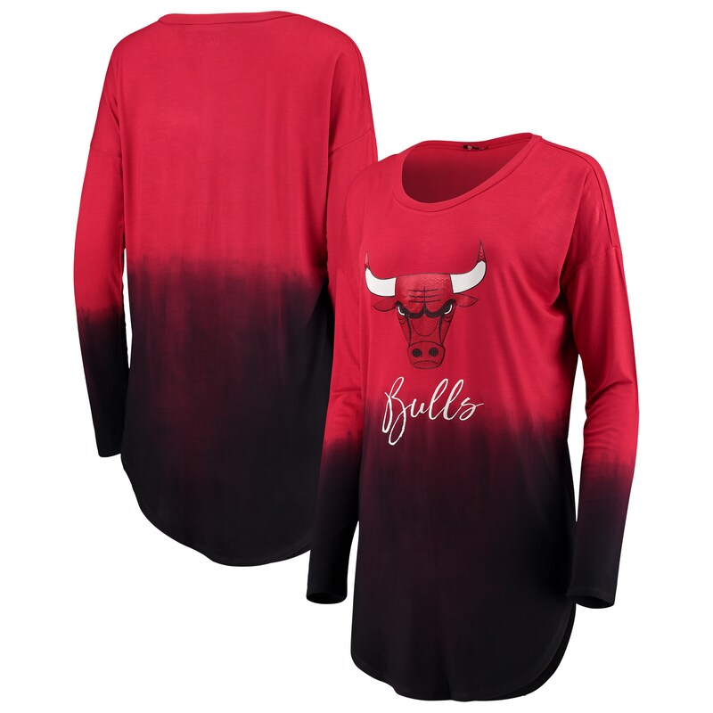 Chicago Bulls Women's Own It Ombre Long Sleeve Tunic T-Shirt - Red