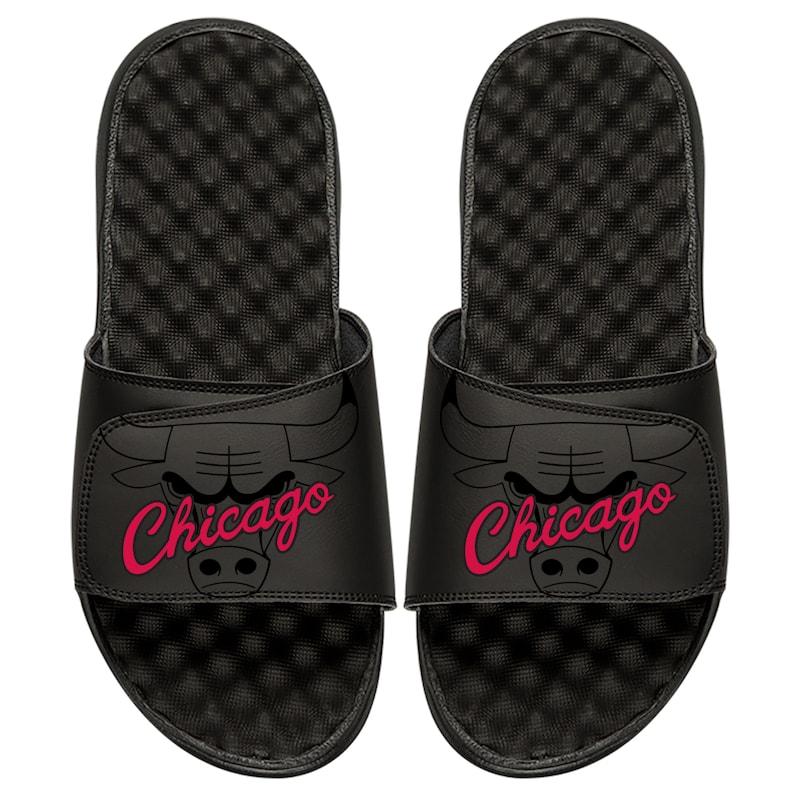 Chicago Bulls ISlide Tonal Pop Slide Sandals - Black