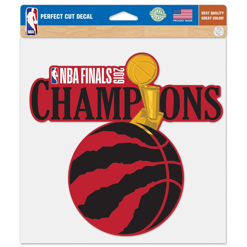 Toronto Raptors WinCraft 2019 NBA Finals Champions 8'' x 8'' Perfect Cut Decal