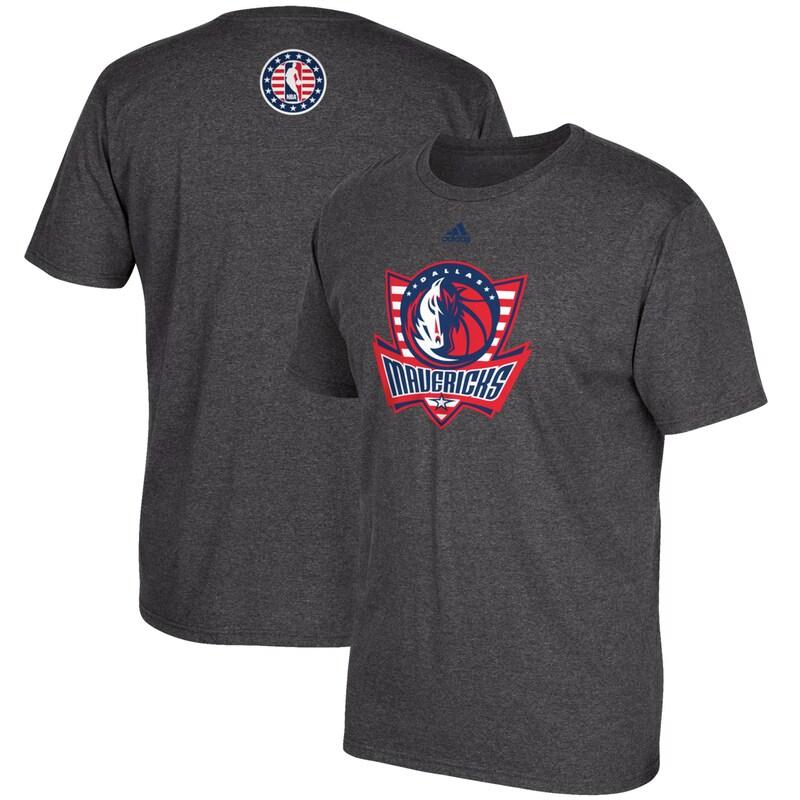 Dallas Mavericks adidas Hoops for Troops T-Shirt - Gray