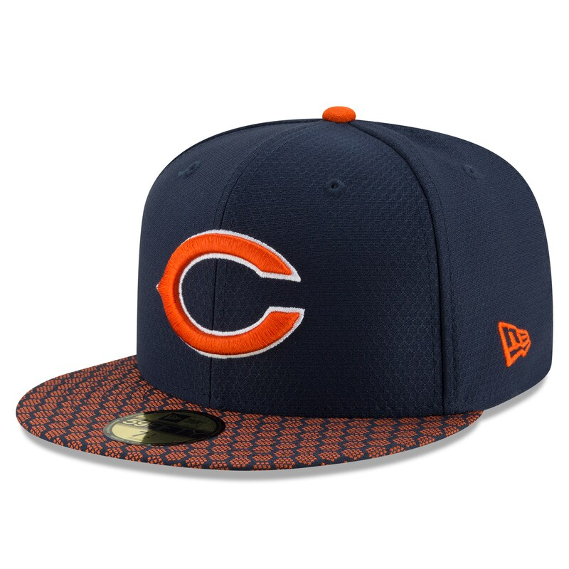 Chicago Bears New Era 2017 Sideline Official 59FIFTY Fitted Hat - Navy