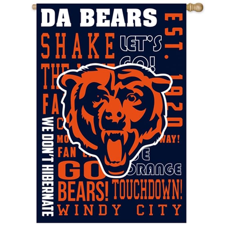 Chicago Bears 28'' x 30'' Fan Favorite Embossed House Flag