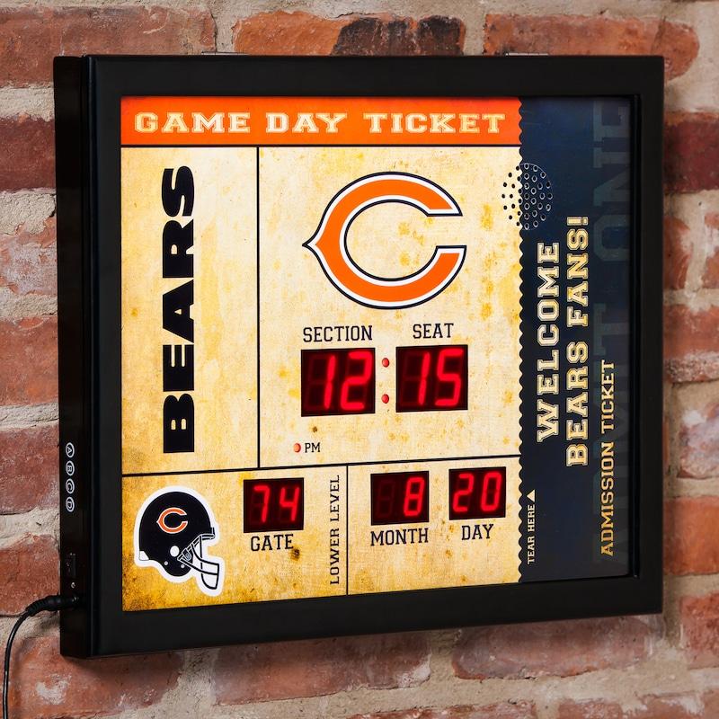 "Chicago Bears 23"" x 18"" Bluetooth Scoreboard Wall Clock"