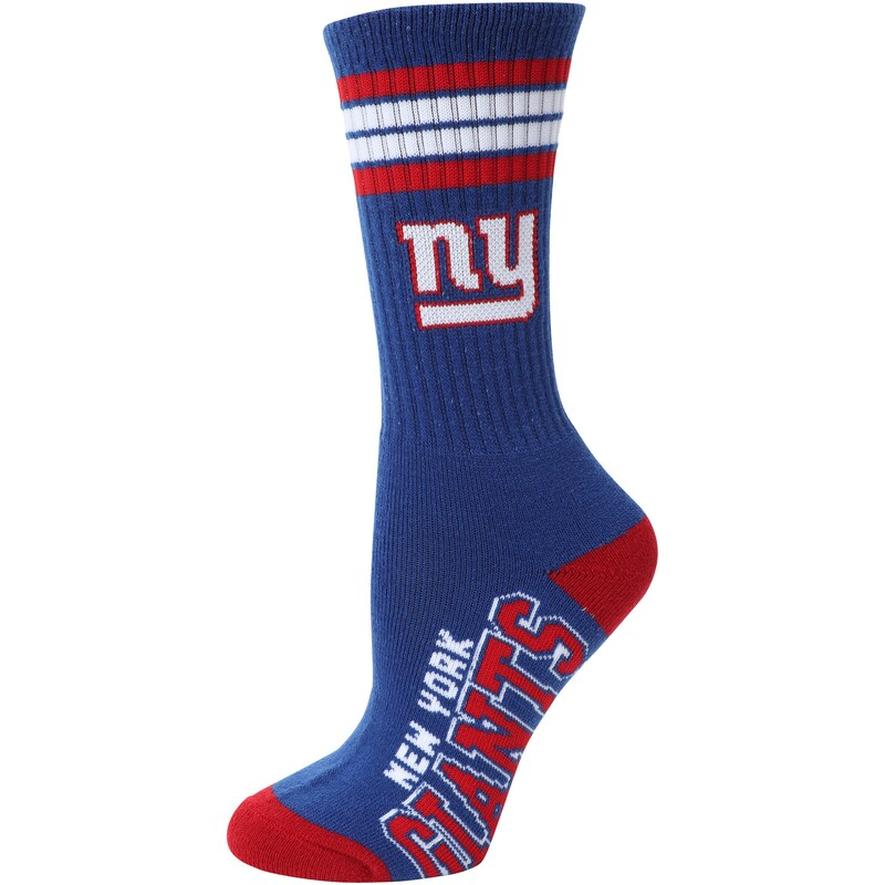 New York Giants For Bare Feet Women's Four Stripe Socks
