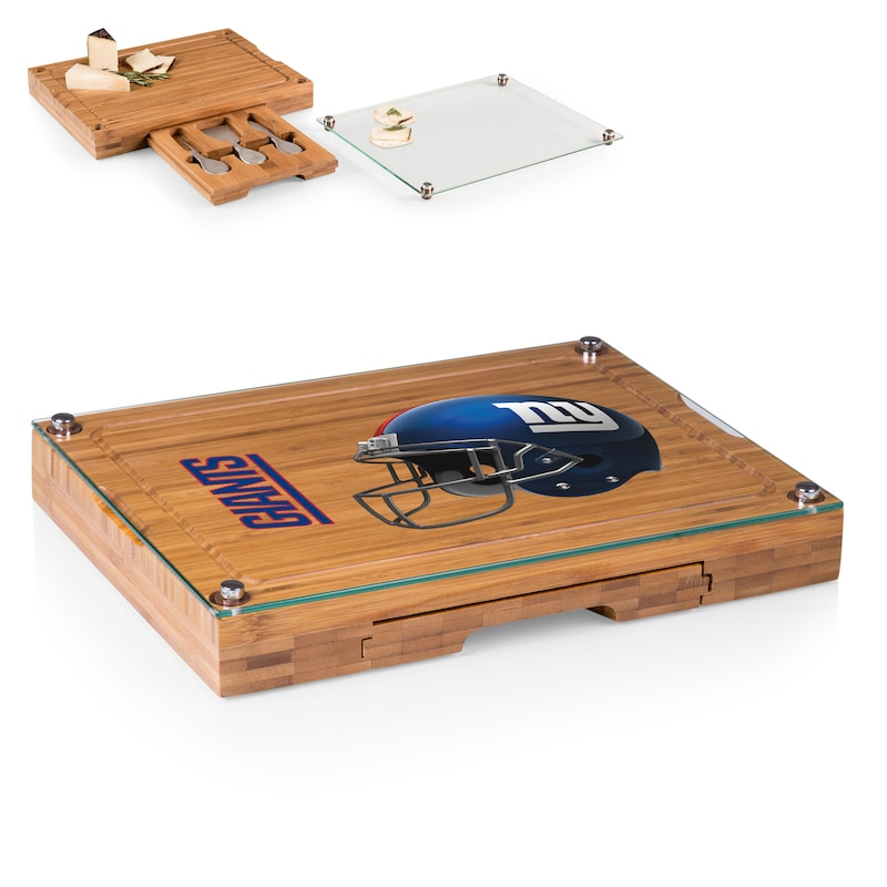 New York Giants Concerto Cheese Board with Serving Stage and Tools